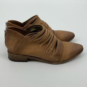 Free People Lost Valley Shredded Ankle Boot, Sz 10